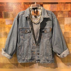 THE LIMITED Vintage Distressed Denim Jean Jacket